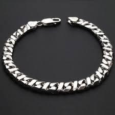 silver solid bracelet images 925 sterling silver solid fancy infinity flat cuban link 7 mm jpg