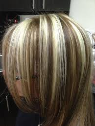 brown lowlights on bleach blonde hair pictures chunky highlights and lowlights bleach blonde hair with brown