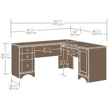 How To Measure L Shaped Desk Sauder Harbor View Corner Computer Desk Antiqued Paint Ca