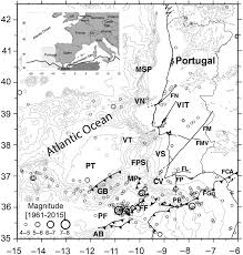 the seismicity of portugal and its adjacent atlantic region from