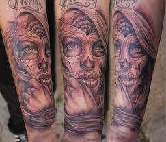 Forearm Skull - sugar skull forearm creativefan