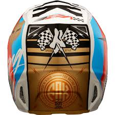 motocross style helmet fox racing 2017 mx new v2 rohr black gold dirt bike
