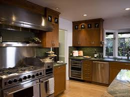 stainless steel appliances kitchen hardware wood cabinets panel