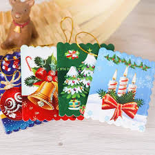 cards printed ornaments wishing card 7x5cm sweet