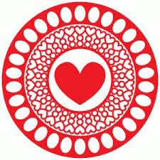 heart doily silhouette design store view design 72944 heart doily