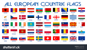 Europe Country Flags All European Countries Flags Eu Countries Stock Vector 1018327393