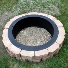 build a backyard fire pit amazon com sunnydaze durable steel fire pit ring liner diy fire