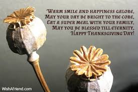warm smile and happiness galore may thanksgiving wish