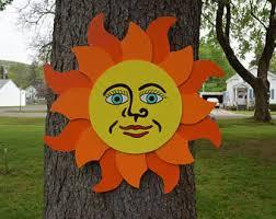 Sun Wall Decor Outdoor Outdoor Wall Art Etsy