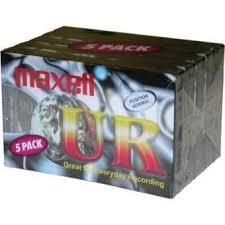 maxell cassette pack de 5 k7 audio maxell ur90 cassette audio achat prix fnac