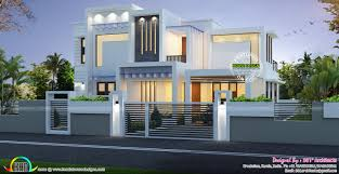 contemporary box type white home 2224 sq ft kerala home design