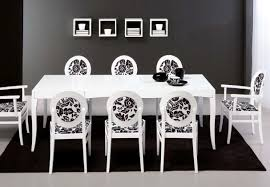 fascinating black dining room rug decoration under white dining