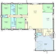 plan maison plain pied 5 chambres plan de maison 5 chambres plain pied gratuit plan maison
