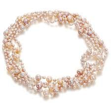 natural pink pearl necklace images Pink pearl necklace clipart jpg