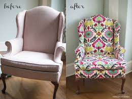 How To Reupholster Armchair Diy Upholstered Wingback Chair Emerald City Diaries