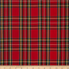 kaufman house of wales plaid red discount designer fabric