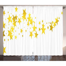 Gold And White Curtains And White Curtains 2 Panels Set Abstract Themed Outer