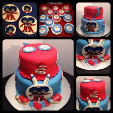 thing 1 and thing 2 cake and matching cupcakes sheri u0027s