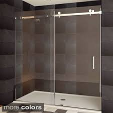 Shower Doors On Sale Shop For Lesscare Ultra B 44 48x76 Inch Semi Frameless Sliding