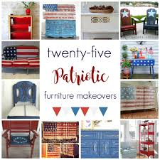 Patriotic Home Decorations 25 Incredible Patriotic Furniture Makeovers Celebrating The Red