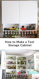 how to make storage cabinets how to make a tool storage cabinet with charging station