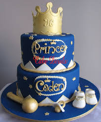 prince baby shower cake topper kit fondant crown rattle