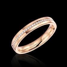 gold engagement rings uk ring 18ct gold diamond band jewellery from mjj uk