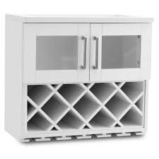 newage products home bar white wall wine rack cabinet 60000 the