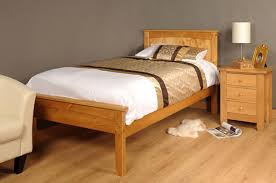 3ft single 4ft6 double 5ft king size caramel white wooden bed