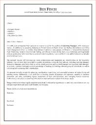 ideas of cover letter example hospitality management about cover