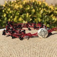 leaf wrap bracelet images Single wrap bracelets suzy schuman beaded jewelry JPG