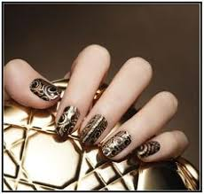 japanese nail art red gothic baroque press on fake nails goth