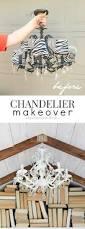 Easy Chandelier Diy Chandelier Makeover Ella Claire