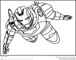 ironman captain america coloring pages kids superhero gekimoe
