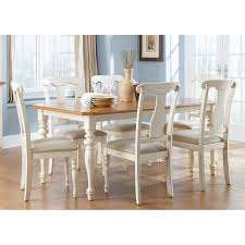 White Furniture Dining Sets Boraam Farmhouse Dining Table White Natural Hayneedle
