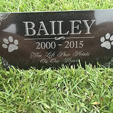 personalized memorial stones you left paw prints on our hearts pet memorial stones