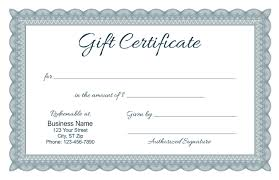 gift certificates formal gift certificate templates