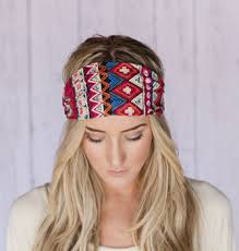 boho hair wraps godbead boho headband aztec print cotton headband hair wrap