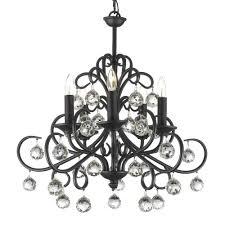 harrison lane 5 light crystal chandelier versailles bellora iron and crystal 5 light black chandelier t40 146