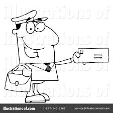 mailman coloring pages mailman clipart 83217 illustration by hit toon
