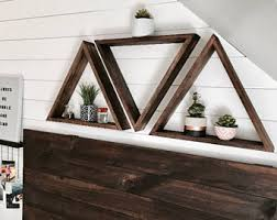 triangle shelf etsy