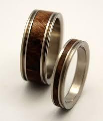 Wood Wedding Rings by Wooden Wedding Rings Titanium Ring Titanium Wedding Rings