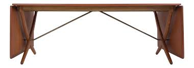 vintage used gold dining tables chairish hans wegner at 314 dining table for andreas tuck