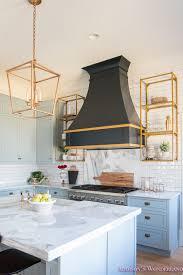 kitchen sink cabinet vent kitchen white marble calcutta gold open shelves gold black