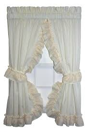 Shabby Chic Window Panels by Ruffled Window Curtains U2013 Teawing Co