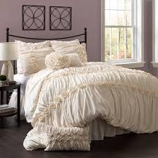 Ivory Duvet Cover Set Darla 4 Piece Bedding Comforter Set Ivory Walmart Com