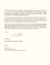 Business Letter Of Intent by Moldova Letter Of Intent To Join Ogp Open Government Partnership