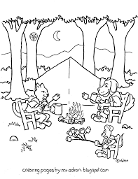 coloring pages for kids by mr adron animal friends camp and