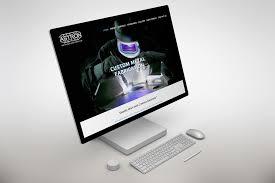 kitchener web design astron specialty metals cryodragon kitchener waterloo website