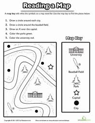 using a map key worksheet education com